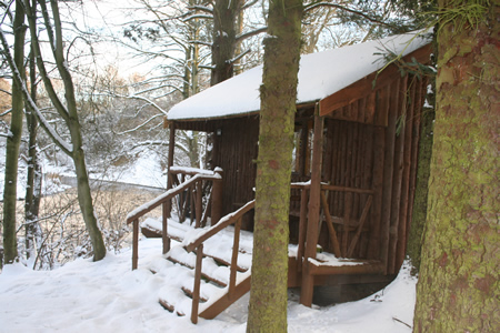 Red Brae Hut in the winter of 2010/11