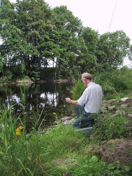 Alasdair Petrie covering Willows lies in low water