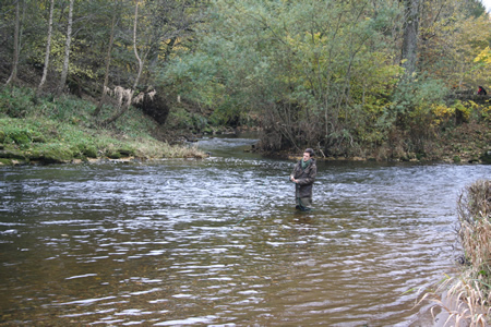 Tom fishing Red Brae