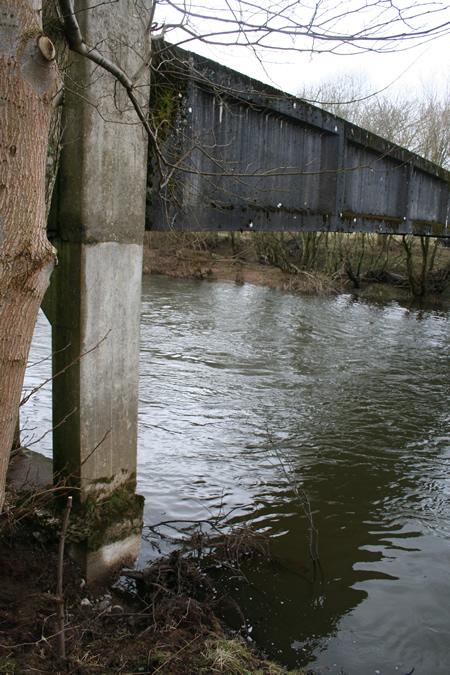 Erosion of Haughs aqueduct support