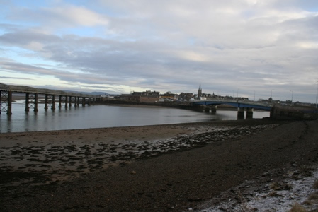 Both bridges at Spring low tide