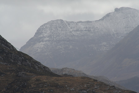 Ben Dearg from the Bothy Pool