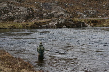 John Wood fishing Bothy Pool