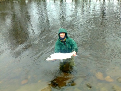 Derek with 14lbs salmon from Tyndals